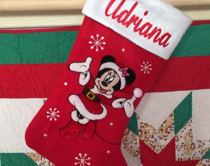 "Disney 20"" Appliqued Minnie Mouse Full Body Plush White Cuff  - Personalized"