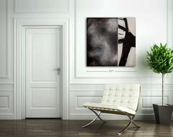 Original Artwork on Canvas - Abstract Painting, Wall Decor, Black and White, Acrylic, Latex, Modern, Contemporary, Gift Idea, Toronto