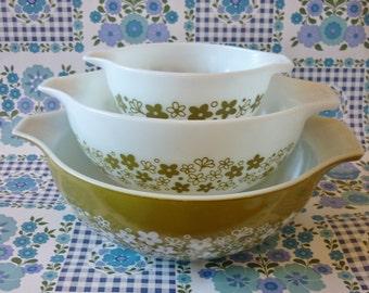 Spring Blossom Cinderella Bowl Pyrex  #444, #443, #441