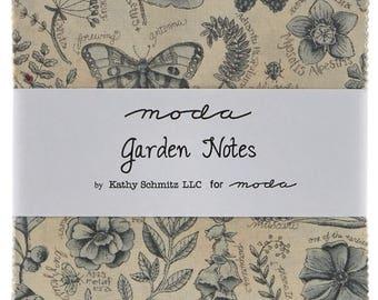 Garden Notes Charm Pack by Kathy Schmitz for Moda Fabrics