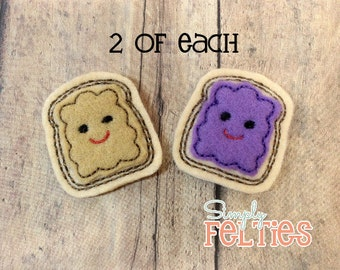 Peanut Butter and Grape Jelly Felties--2 of Each
