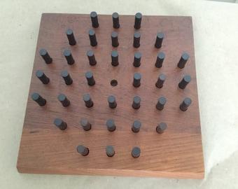 Vintage Danish Modern Skjode Skjern Teasing Pegs Board Game Rosewood Teak Mid Century