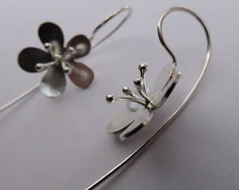 Fine Blossom - Earrings - silver