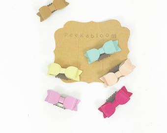 Petite Mini Bright Bow - No Hair Clip - Peekabloom