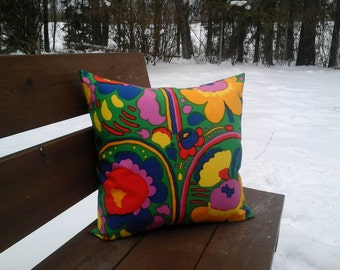Modern pillow cover made from Marimekko fabric Pieni Karuselli, floral accent pillow, throw pillow or cushion cover, Scandinavian modern