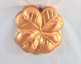 Copper Four Leaf Clover St. Patricks Day Mold/Pan.