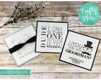 "Groomsmen proposal card  - groomsmen gift - 6 x 6"" - personalized"