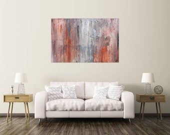 Original abstract artwork on canvas ready to hang 100x150cm #488