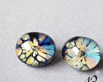 Glass eyes 12-3 mm, lampworkart, fantasy figure, butterfly