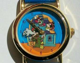 Disney Halloween Animated Mickey Mouse Watch! New! Out of Production! HTF!