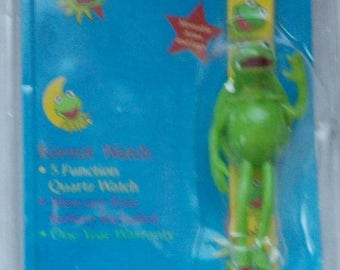 Brand new Kermit the Frog Watch! For kids! Flip top! Unique! No longer made now!