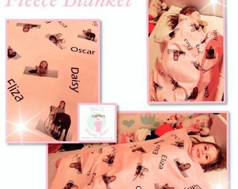 Personalised Photo Fleece Blanket
