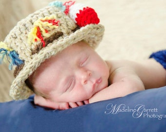 Crochet Little Fisherman Newborn Photo Prop,Fisherman Photo Prop,Photo Prop for Babies,Baby Halloween Costume,Prop for Boys,Ready To Ship