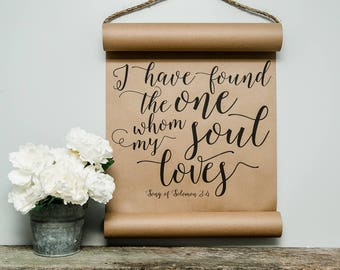 Mini Song Of Solomon Scroll