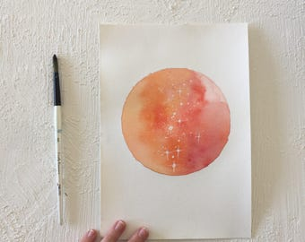 Original Moon Paintings | 7.25x10 inches