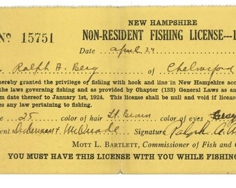 Chelmsford etsy for Fishing license illinois