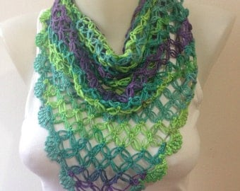 Crochet Scarf in Summer Colours