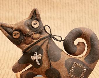 Cat Primitive Gift Handmade Cat Kitty For Cat Lovers Primitive Halloween.