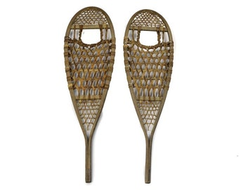 Antiqued Snowshoes
