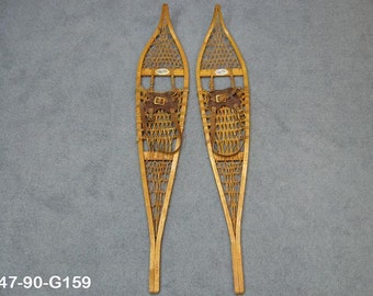 Authentic Vintage Custom Pair of Snowshoes by Fred Nesbitt