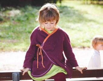 Vest wrap - organic cotton fleece - children