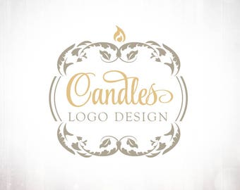 Premade Logo Design • Candle Luxury Frame