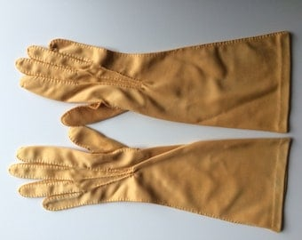 Mustard Yellow Opera Gloves