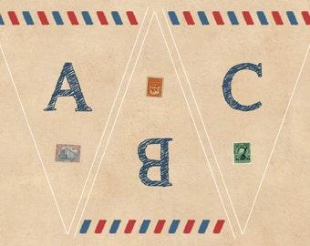 Airmail Printable Bunting
