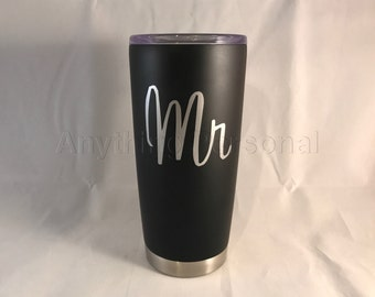 Personalized Stainless Steel Cup, Mr Stainless Steel Tumbler, Wedding Gift, Mr & Mrs Cups, Bride and Groom Cups, Cold Steel Cup, Groom Cup