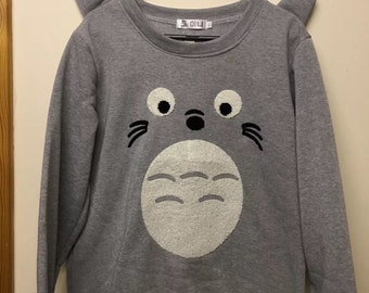 My neighbour Totoro cosplay ears sweatshirt winter women ladies TOP