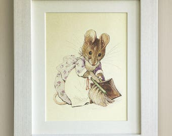 """BEATRIX POTTER Print, New Baby/Birth, Nursery Picture Gift, *UNFRAMED* Lovely Birth or Christening Gift, 10""""x8"""", The Tale of Two Bad Mice"""