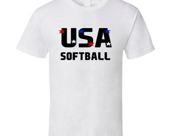 Softball Usa Hobbies Sports And Activities T Shirt