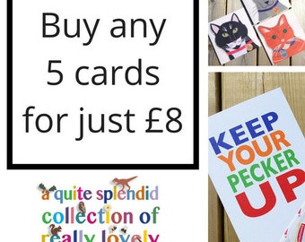 Discount Cards - Greeting Card Set - Set Of 5 Cards - Pick Your Own Cards - Special Offer - Pick Your Own - Choose Your Own - 5 Cards