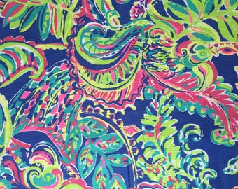 MULTI TOUCAN PLAY cotton Jacquard  9 X 18 or 18 X 18 inches ~Authentic Lilly Pulitzer fabric~
