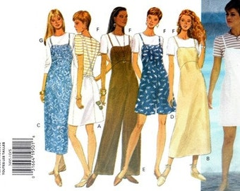 Butterick 3495 All American Girl Jumper, Jumpsuit & Top / 1994 ALL SIZES UNCUT