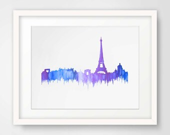 Rainy Day in Paris Watercolor Print