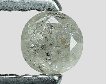 0.20cts 3.3mm Grayish White Natural Loose Diamond