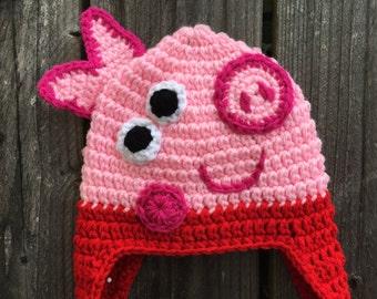 Peppa Pig Beanie Etsy