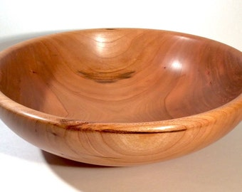 Turned Cherry Salad Bowl with Food Safe Finish