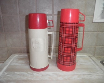 2 Vintage Thermoses made by Aladdin and Thermos