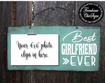 girlfriend, gift for girlfriend, girlfriend gifts, best girlfriend ever, picture frame, Valentine's day gift, Christmas gift for her
