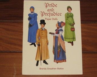 1997 Pride and Prejudice Paper Doll Book by Brenda Sneathen Mattox (Uncut)