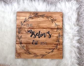 Anniversary Wood Sign