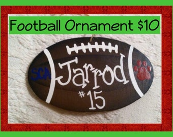 Hand-painted Football Ornament