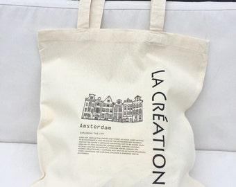 TOTE Bag - Canvas Shopping bag - Amsterdam