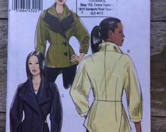Vogue 2009 jacket pattern V8627 size FF (16-18-20-22)