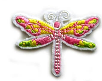 Dragonfly Embroidered Patch Appliqué