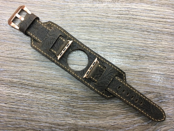 Apple Watch Band | Apple Watch Strap | Apple Watch Cuff Band | Apple Cuff strap | Leather watch Band For Apple Watch 38mm - Series 1 &  2