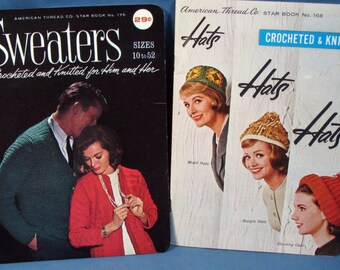 Vintage American Thread Co. Knitting Books - Hats and Sweaters