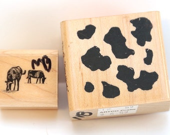 Set of 2 cow stamps